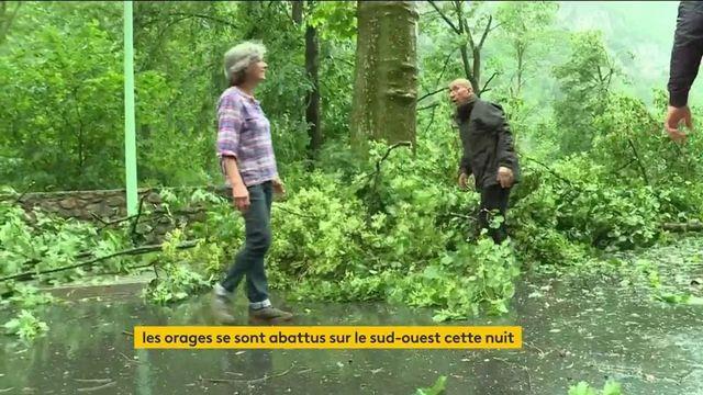 Orages : des dégâts dans le Sud-Ouest