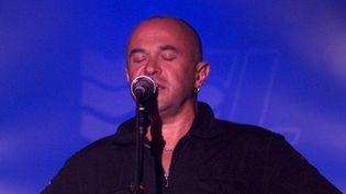 Yann-Fañch Kemener au festival Interceltique de Lorient en août 2002.  (Vincent Michel / PQR Ouest France / MaxPPP)