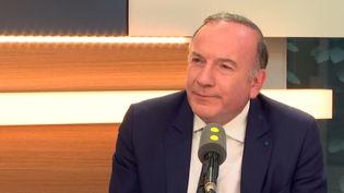 Pierre Gattaz, le président du Medef, le 28 mars 2017. (RADIO FRANCE)