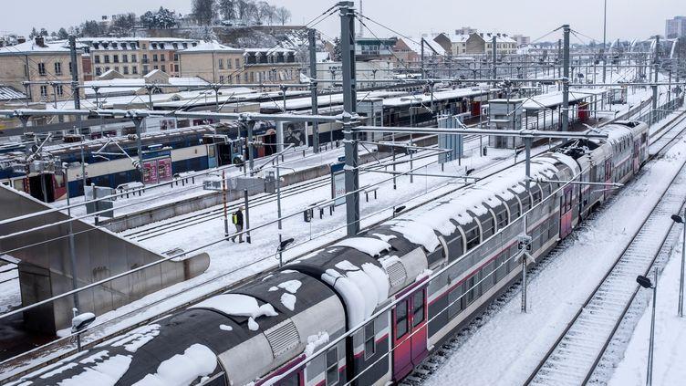 La gare de Pontoise (Oise), le 7 février 2018. (MAXPPP)