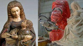 La copie de la Vierge de Poligny réalisée par un robot et une imprimante 3D fait de nouveau battre le coeur des Polinois  (France 3 / Culturebox)