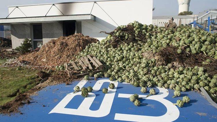 (Des aides pour les légumiers, dont la colère a éclaté à Morlaix vendredi dernier © MaxPPP)