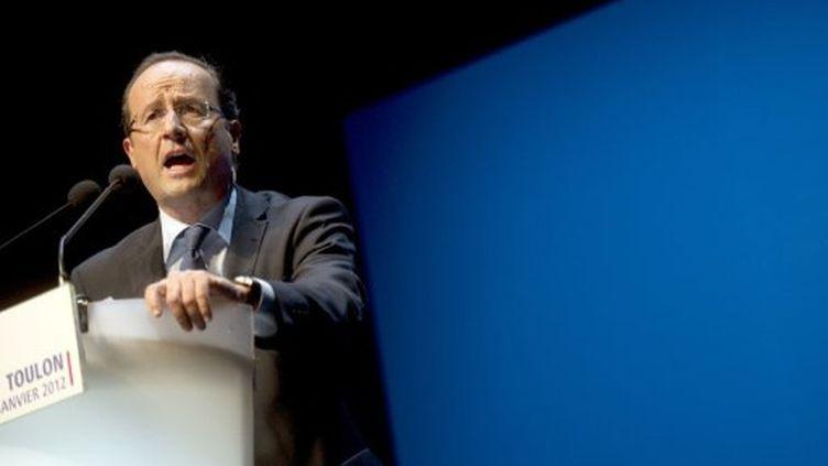 François Hollande à Toulon (24 janvier) (AFP)