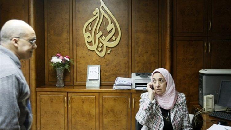 Le bureau d'Al-Jazeera au Caire (AFP/MOHAMMED ABED)