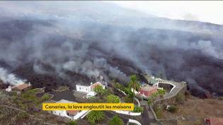 Espagne : dans les îles Canaries, l'éruption du volcan Cumbre Vieja fait dégâts considérables (FRANCEINFO)