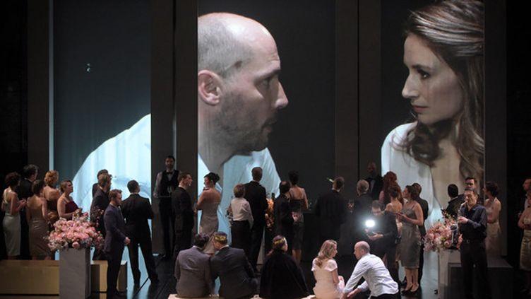 Stéphane Degout (Hamlet) et Sabine Devieilhe (Ophélie)  (Vincent Pontet)