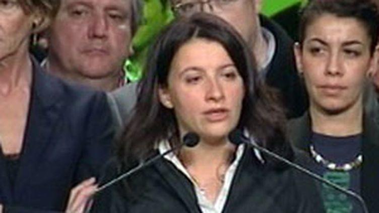 Cécile Duflot lors du premier meeting de campagne d'Europe Ecologie pour les régionales de 2010. (France 3)