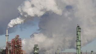 Les usines de transformationdu pétrole danslecomté de Strathcona(Alberta), le 5 février 2014 (IAN KUCERAK / EDMONTON SUN / QMI AGENCY / AFP)