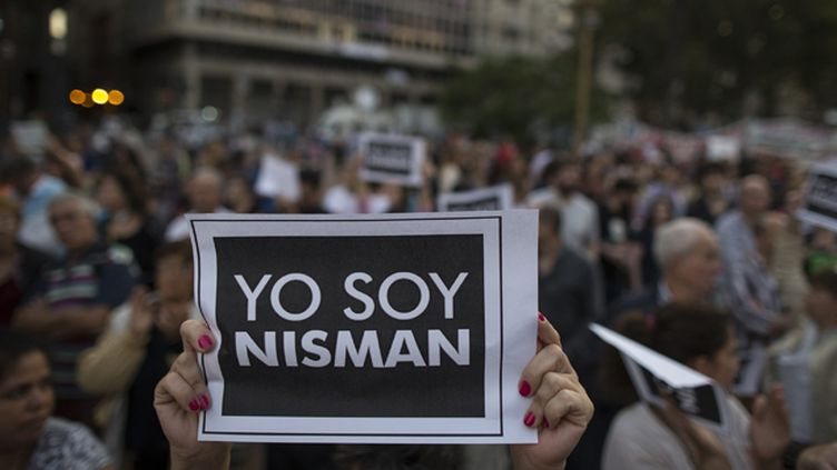 (Manifestation après la mort de Alberto Nisman à Buenos Aires © Maxppp)