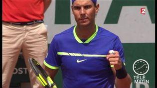 Rafael Nadal vise un 10e titre à Roland-Garros. (FRANCE 2)
