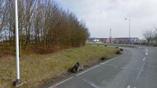 L'aire d'autoroute d'Urvilliers où un contrôle de gendarmerie a déclenché une course-poursuite, vendredi 1er mai 2015. (GOOGLE STREET VIEW)