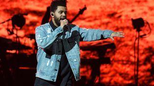 """Abel Makkonen Tesfaye alias """"The Weeknd"""" en concert à San Antonio (Texas) en 2017. (SUZANNE CORDEIRO / AFP)"""