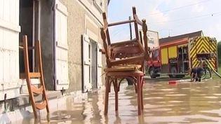Un quartier de Beauvais (Oise) sous les eaux, le 7 juin 2016 (FRANCE 3)