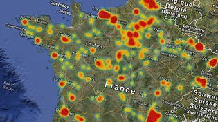 La France compte quelques 650 sites Seveso.  (FRANCETV INFO / GOOGLE MAPS)