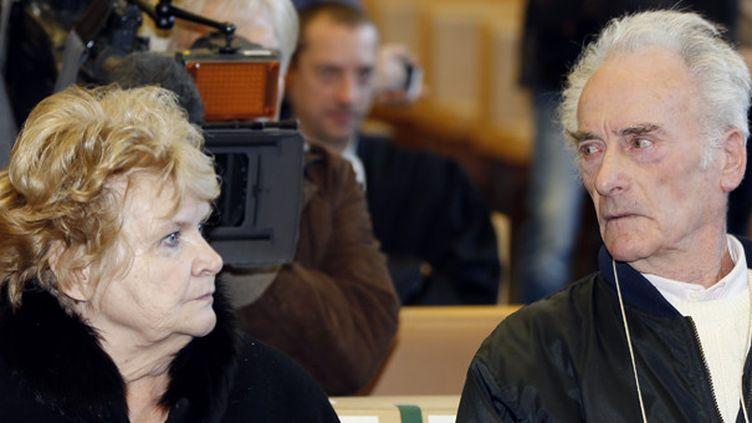 Danielle et Pierre Le Guennec au tribunal de Grasse, le 10 février 2015.  (Valery Hache / AFP)