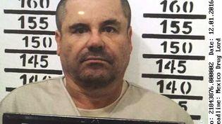 """Joaquin Guzman, dit """"El Chapo"""", le 8 janvier 2016, dans la prison d'Almoloya (Mexique), après sa troisième arrestation. (AP / SIPA / AP)"""