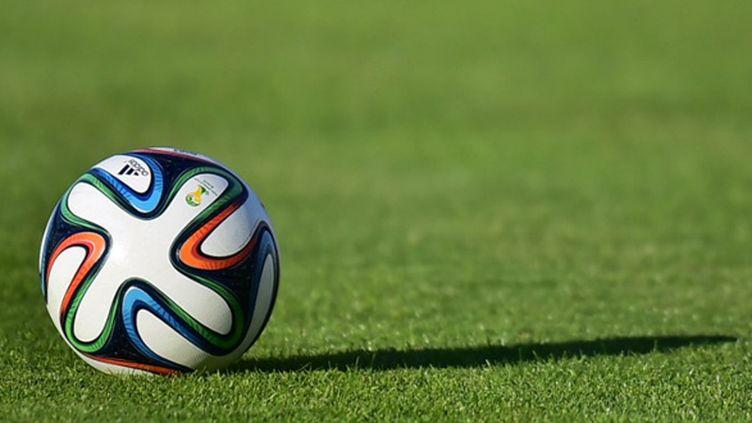 """Le """"Brazuca"""", ballon du Mondial 2014 (RODRIGO BUENDIA / AFP)"""