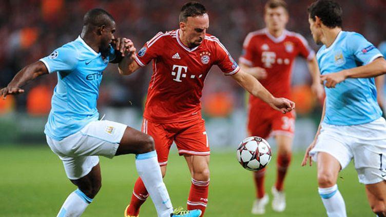 Franck Ribéry, dans la défense de Manchester City, a trouvé le chemin des filets