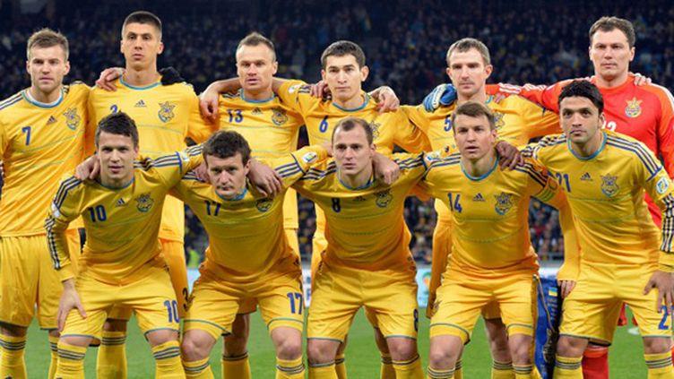 L'équipe d'Ukraine (SERGEI SUPINSKY / AFP)