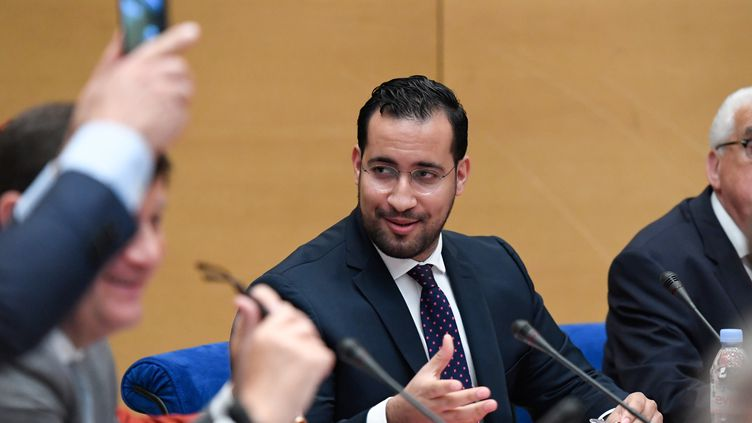Alexandre Benalla, le 19 septembre 2018, lors de son audition devant la commission d'enquête du Sénat, à Paris. (BERTRAND GUAY / AFP)