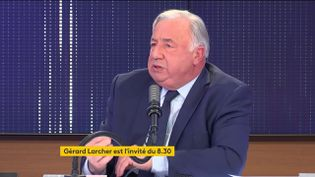 Gérard Larcher, président Les Républicains du Sénat, était l'invité de franceinfo mercredi 5 mai. (FRANCEINFO / RADIO FRANCE)