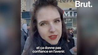 """VIDEO. """"On est obligés de trouver des manières transversales de vivre"""", témoigne une étudiante à Lyon (BRUT)"""