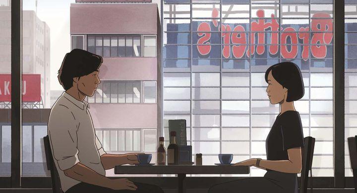 À Tokyo, Fukamachi interroge des personnes qui ont connu Habu, à la recherche de pistes pour retracer son chemin (ALLOCINE / WILD BUNCH DISTRIBUTION)