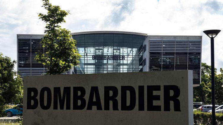 Un bâtiment de Bombardier, le 16 juillet 2020 à Hennigsdorf (Allemagne). (PAUL ZINKEN / DPA / AFP)