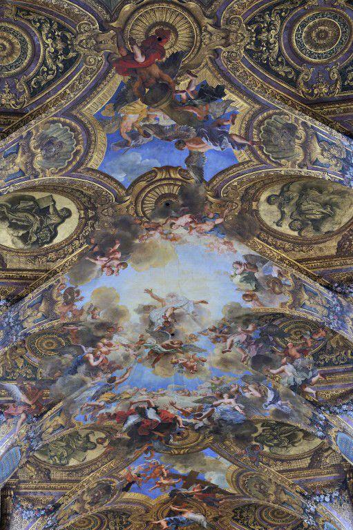 Fresque du plafond de la Chapelle royale du château de versailles, par Antoine Coypel  (TRIPELON-JARRY / ONLY FRANCE)