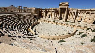 Le théâtredela cité antique de Palmyre (Syrie), photographié le 31 mars 2016. (JOSEPH EID / AFP)