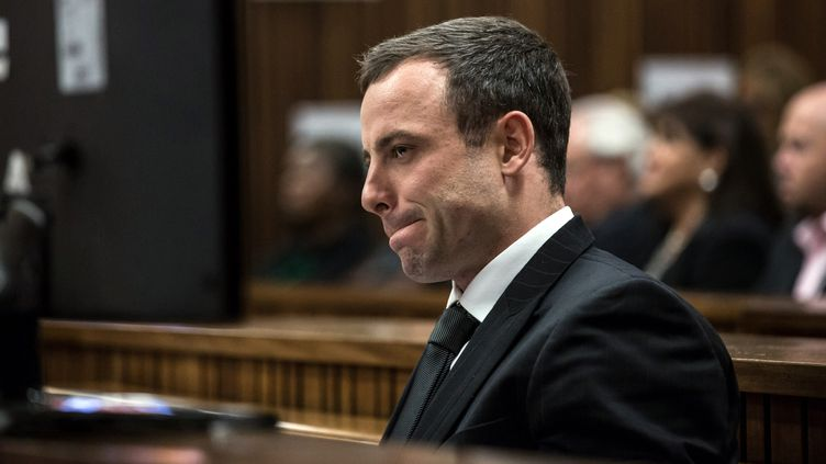 Oscar Pistorius au tribunal de Pretoria (DANIEL BORN / POOL)