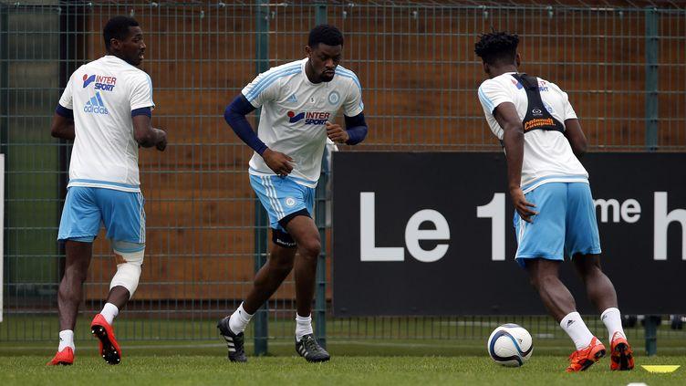 Abou Diaby lors d'un entraînement avec l'OM (SPEICH FREDERIC / MAXPPP)