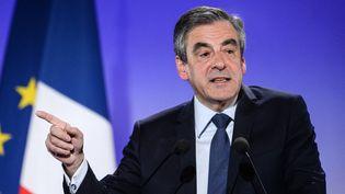 François Fillon, le 6 avril 2017. (SEBASTIEN BOZON / AFP)