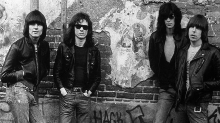 The Ramones en 1976. De gauche à droite: Dee Dee, Tommy, Joey et Johnny.  (Kobal The Picture Desk / AFP)