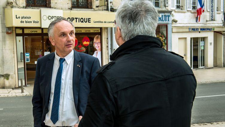 Le maire FN de Villers-Cotterêts (Aisne), Franck Briffaut, le 4 mars 2015. (PHILIPPE HUGUEN / AFP)