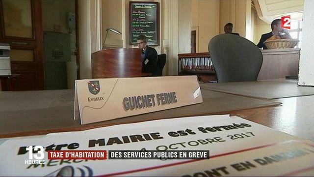 Taxe d'habitation : des services publics en grève