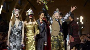Vivienne Westwood ah 2017-18 à la London Fashion week, janvier 2017  (NIKLAS HALLE'N / AFP)