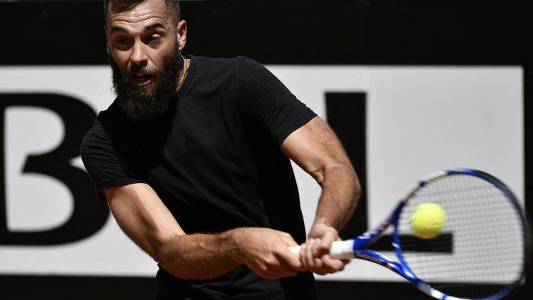Benoît Paire dans un mauvais jour au Masters 1000 de Rome lundi 10 mai 2021. (FILIPPO MONTEFORTE / AFP)