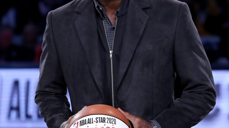 L'ancienne star de NBA Michael Jordan,le 17 février 2019 à Charlotte, en Caroline du Nord. (STREETER LECKA / GETTY IMAGES NORTH AMERICA / AFP)