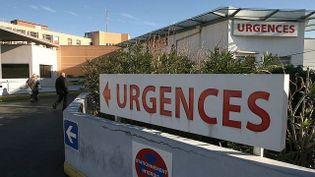 Entrée des urgences de l'hôpital Lapeyronie à Montpellier (Hérault). (  MAXPPP)