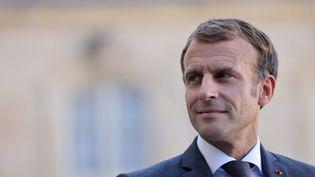 Le président Emmanuel Macron à l'Elysée, à Paris, le 24 septembre 2021. (THOMAS COEX / AFP)