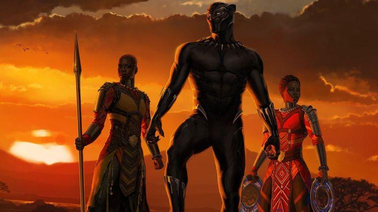 """Chatwick Boseman, Lupita Nyoong'o et Danai Gurira dans """"Black Panther"""" de Ryan Coogler  (Marvel Films)"""