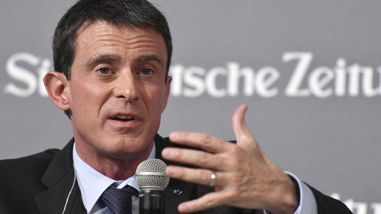 Manuel Valls à Berlin , le 17 novembre 2016 (JOHN MACDOUGALL / AFP)