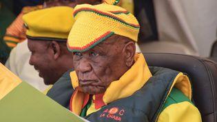 La dernière apparition publique de Thomas Thabane remonte au 8 mars 2020. Il assistait à une manifestation à Maseru, la capitale du Lesotho. (MOLISE MOLISE / AFP)