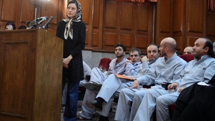 Clotilde Reiss au tribunal de Téhéran le 8 août 2010 (AFP PHOTO/FARS NEWS/ALI RAFIEI)