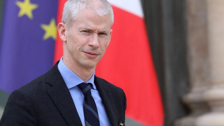 Le ministre de la Culture, Franck Riester, à l'Elysée, le 20 mars 2019. (LUDOVIC MARIN / AFP)