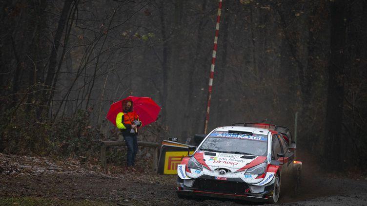 Sébastien Oier (Toyota) dans le parc du circuit de Monza (GREGORY LENORMAND / DPPI)