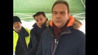 Capture d'écran d'une vidéo du 26 novembre 2018 sur laquelle apparaît le maire d'Evreux Guy Lefranc. (DR)
