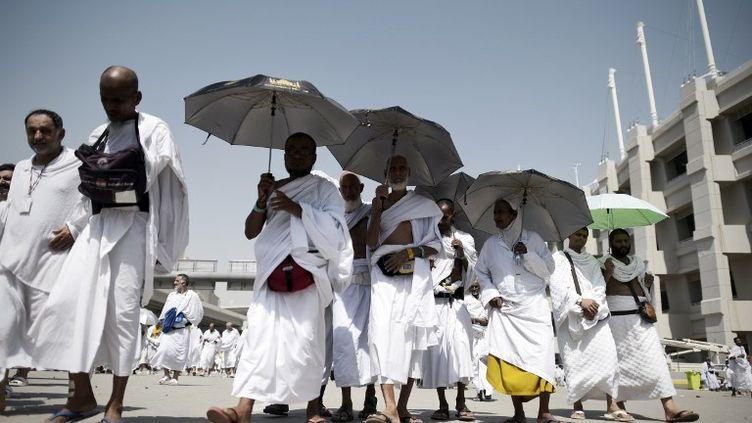 Des pèlerins à La Mecque (Arabie saoudite), le 24 septembre 2015. (MOHAMMED AL-SHAIKH / AFP)
