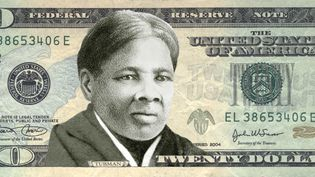 """Montage effectué par l'association """"Woman On 20's"""" pour promouvoir l'apparition du portrait de Harriet Tubman sur le billet de 20 dollars. (WOMEN ON 20'S / AFP)"""